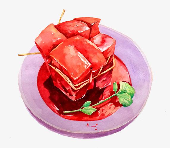手绘东坡肉