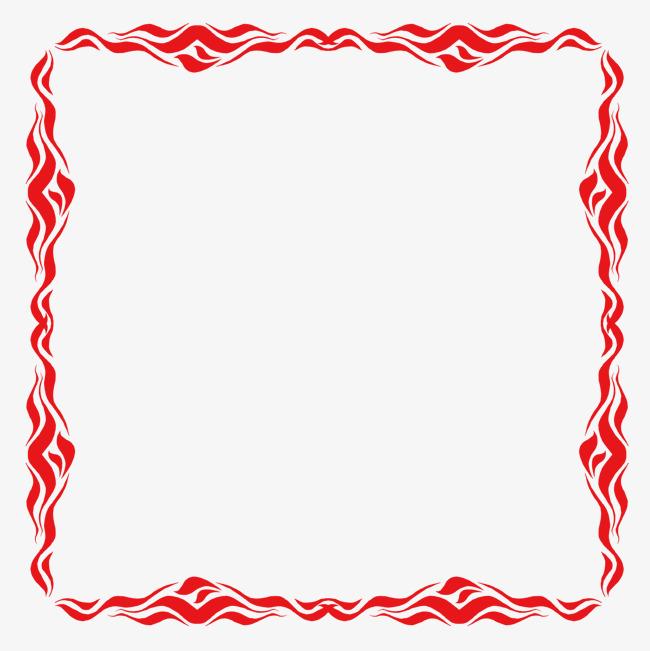 传统红色海浪波浪边框纹理素材图片免费下载_高清边框