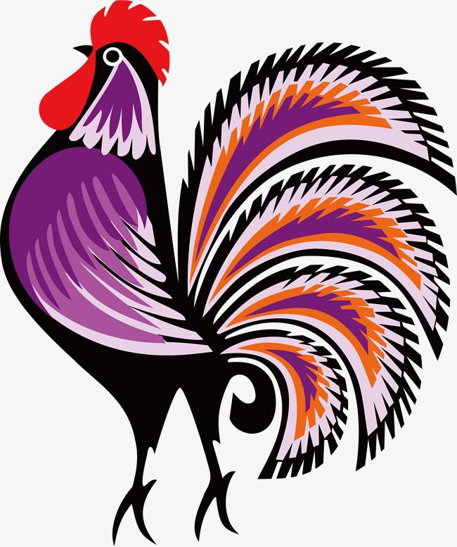 手绘水彩公鸡矢量图素材图片免费下载 高清卡通手绘psd 千库网 图片