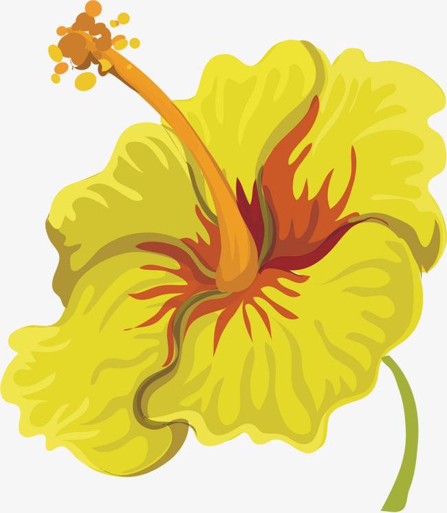 手绘黄花图案素材