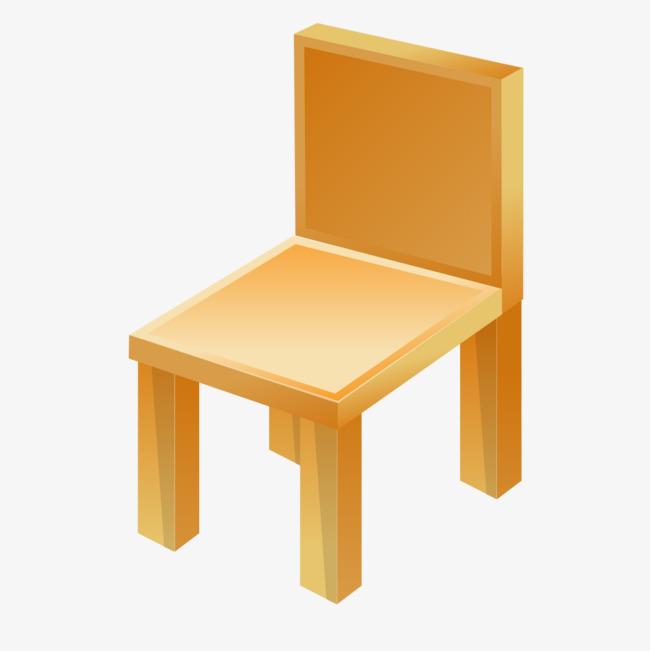 黄色手绘凳子