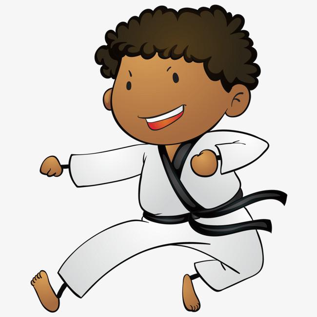 卡通跆拳道人物图片