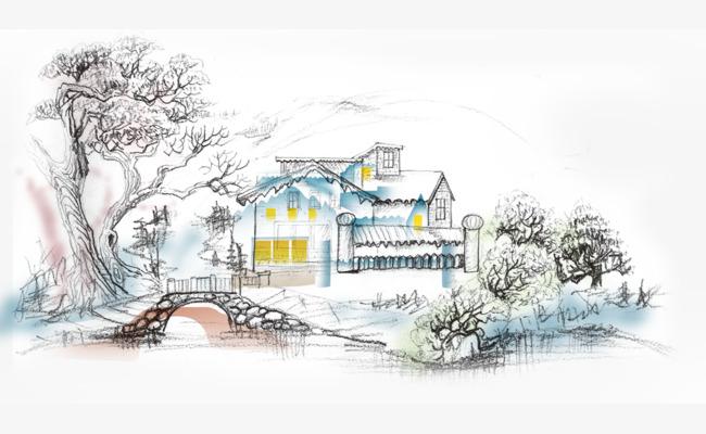 图片 > 【png】 小清新房子  分类:手绘动漫 类目:其他 格式:png 体积