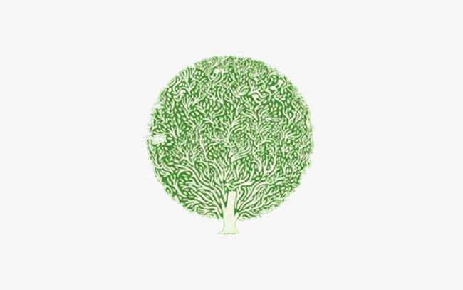 卡通手绘小树