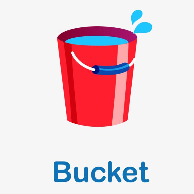手绘红色水桶