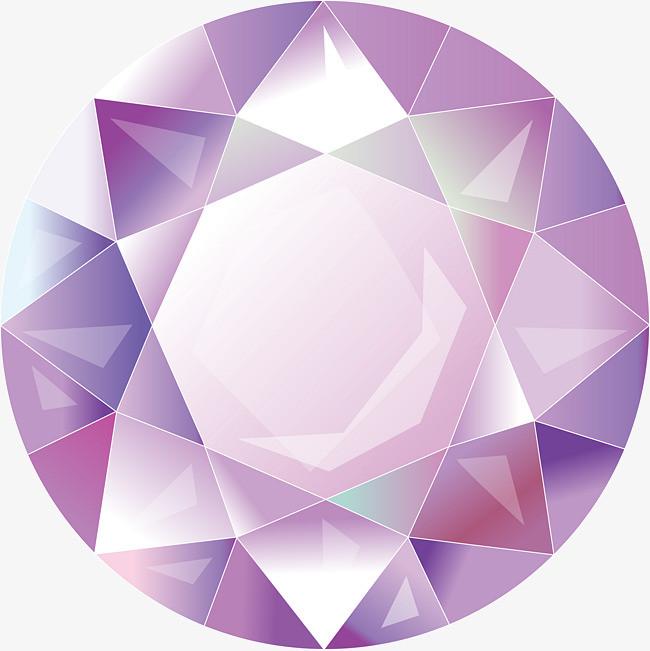 彩色钻石装饰元素png素材-90设计
