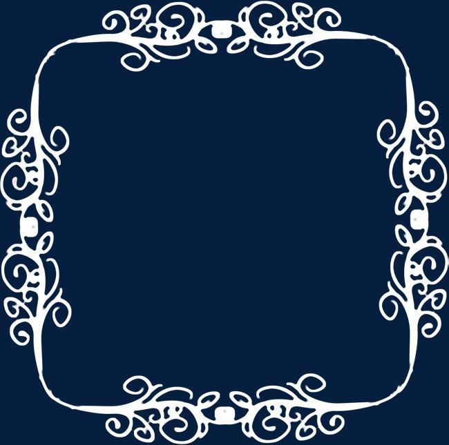 白色花边相框免抠png素材-90设计