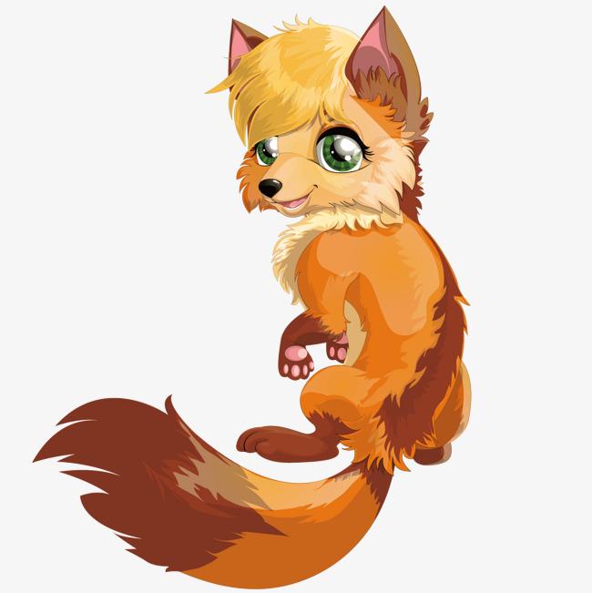 卡通可爱的狐狸