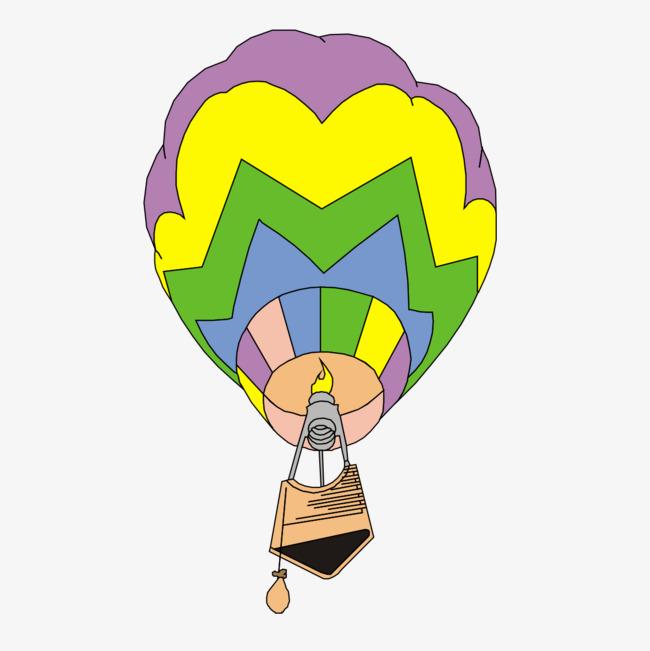 彩色手绘降落伞