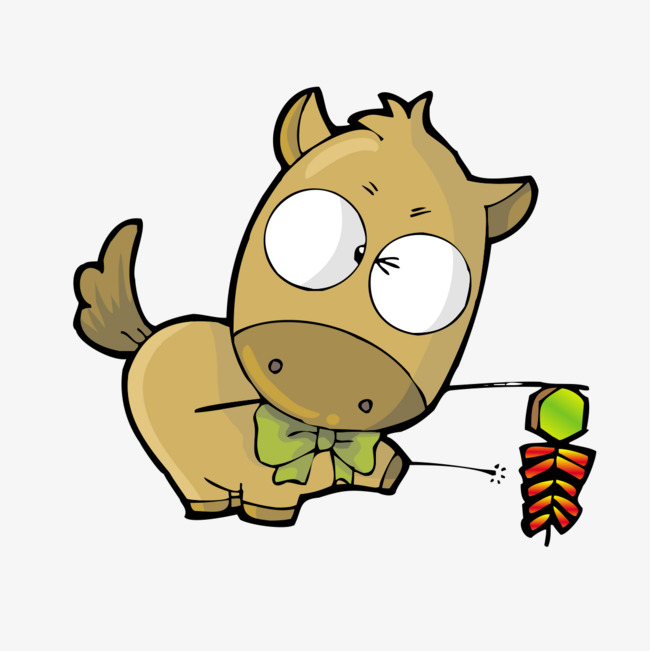 可爱卡通小马动物