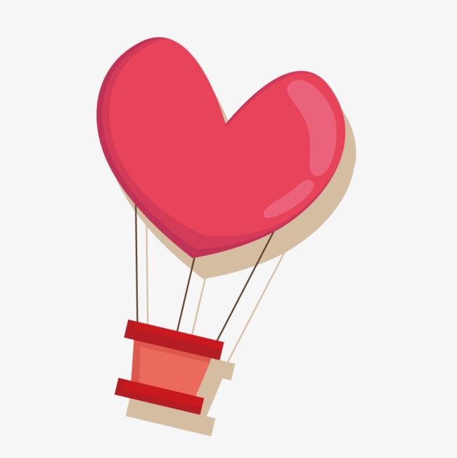 粉色热气球png素材-90设计