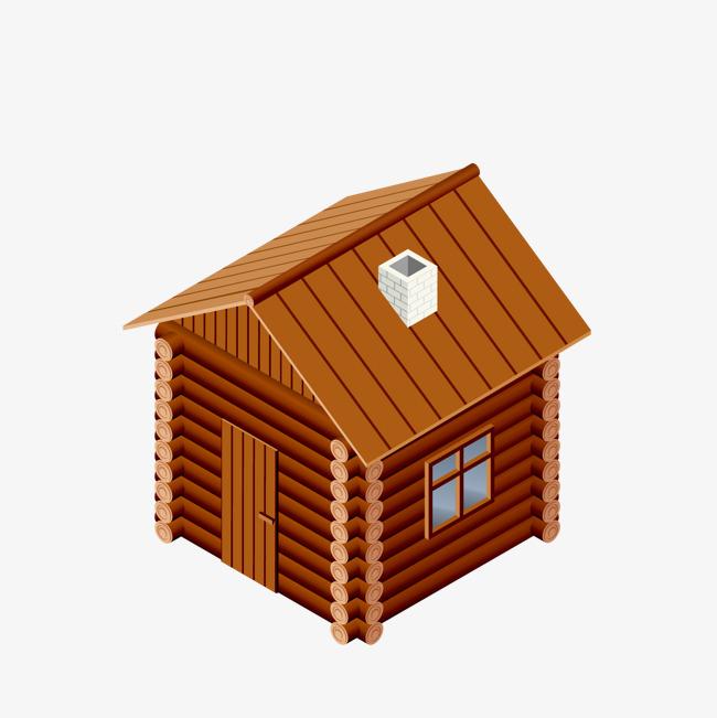 木头房子png素材-90设计图片