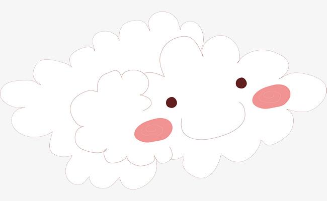笑脸云朵手绘卡通素材