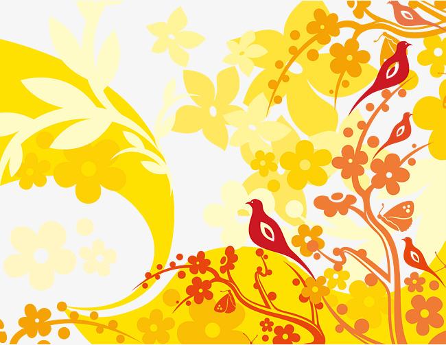 手绘花纹装饰图案矢量图