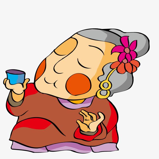 老妇伦囹�a�M_喝酒的老妇人