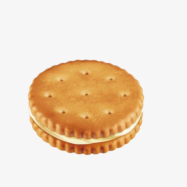 美味圆形饼干矢量图