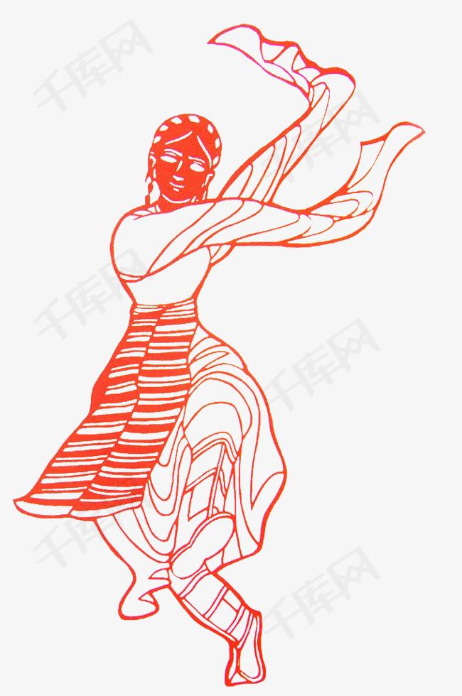红色手绘少数民族少女素材图片免费下载 高清装饰图案png 千库网 图片编号7028436