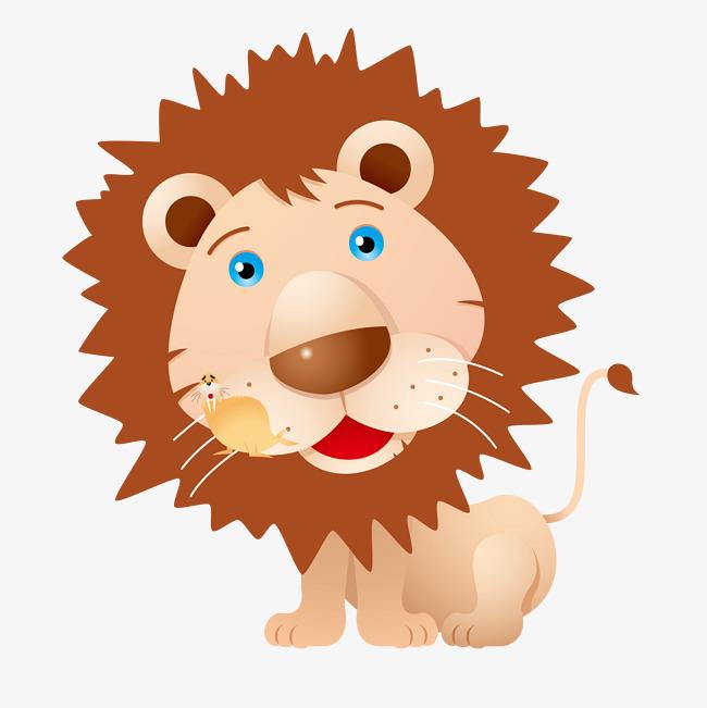 卡通可爱狮子矢量图