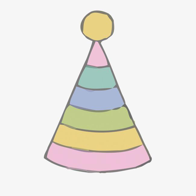 矢量手绘生日帽素材