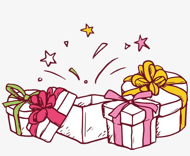 手绘礼物盒