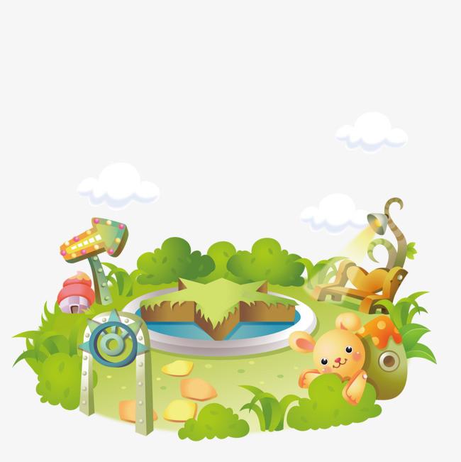 手绘亲子乐园平面图