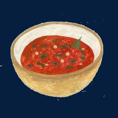 番茄罗宋汤手绘画素材图片