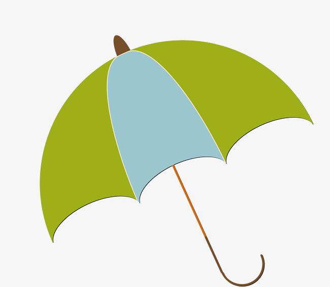 手绘彩色雨伞