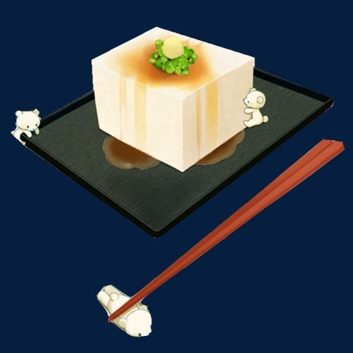 青豆腐手绘画素材图片豆腐豆制品青豆腐筷子黑色托盘手绘美食