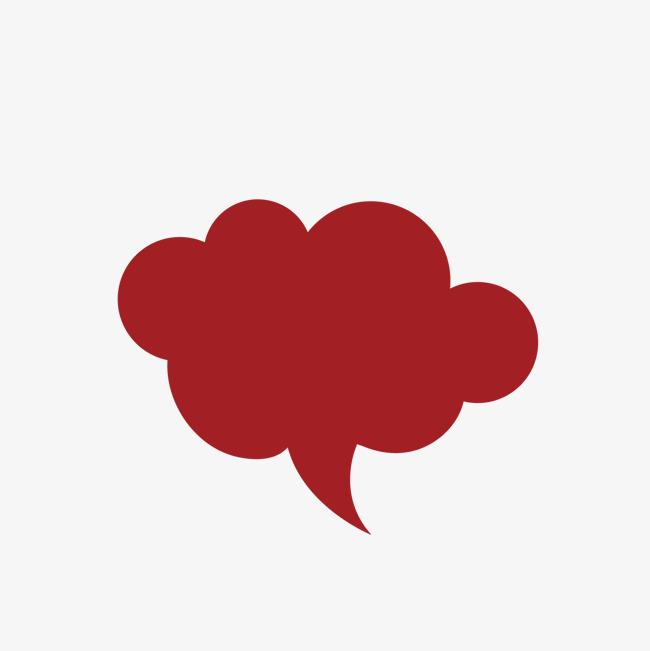 红色云朵矢量可爱对话框