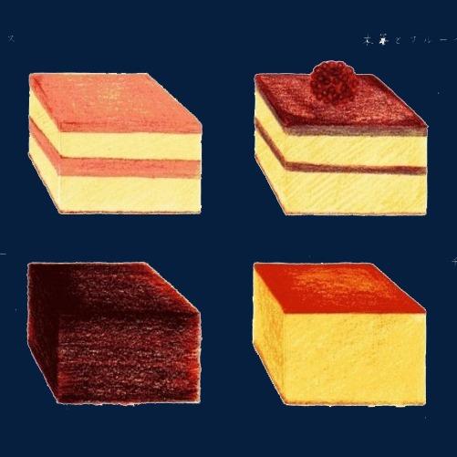 方块面包手绘画素材图片
