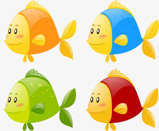 观赏鱼 小金鱼 可爱 小动物 矢量素材             此素材是90设计网