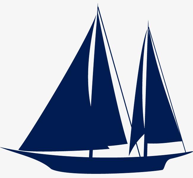 卡通手绘帆船
