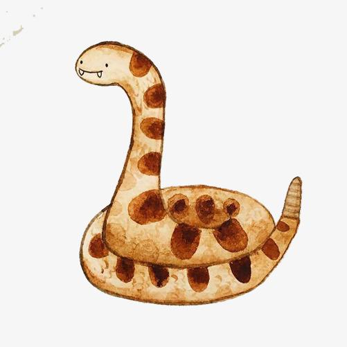 可爱小蛇手绘画素材图片