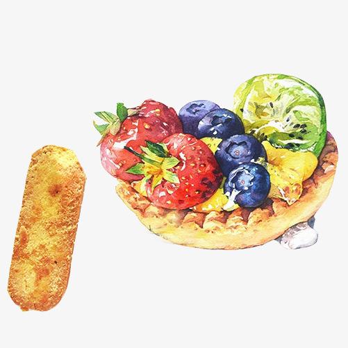 水果派手绘画素材图片