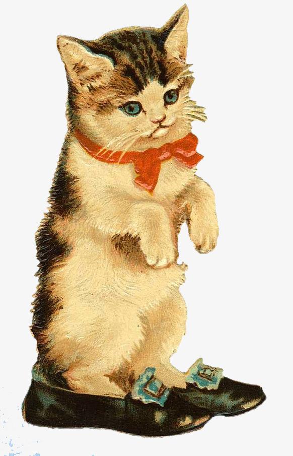 可爱手绘小猫咪