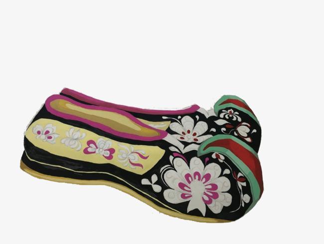 手绘中国风绣花鞋