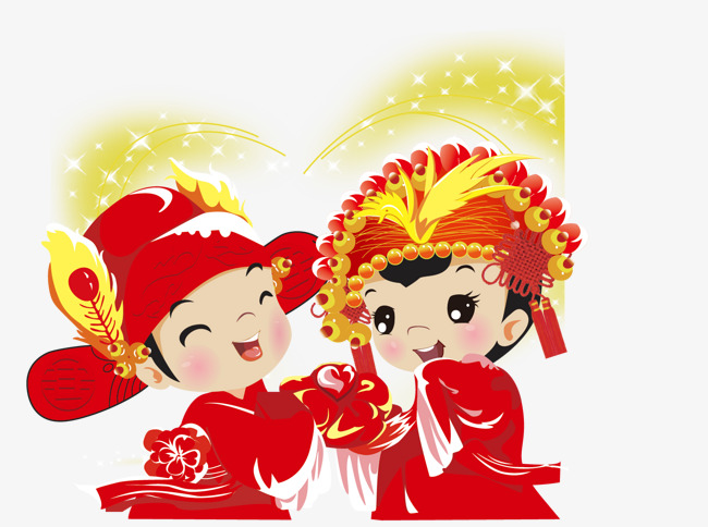 古代新郎新娘