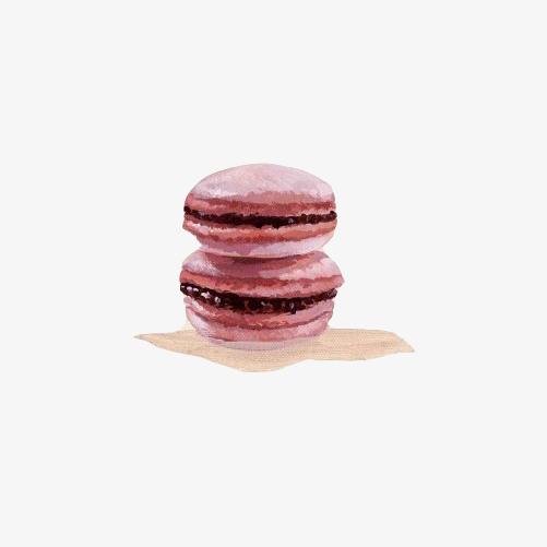 马卡龙饼手绘画素材图片