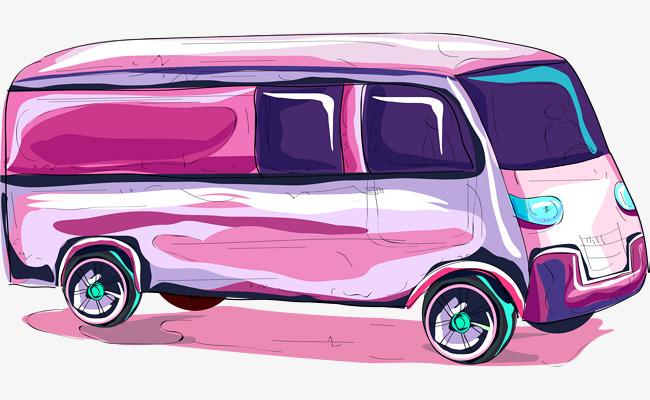 矢量手绘公交车