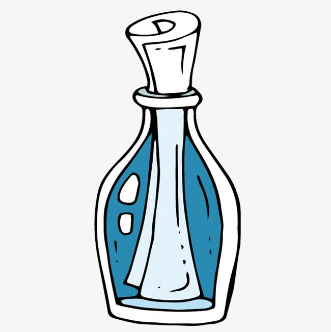 矢量手绘漂流瓶素材