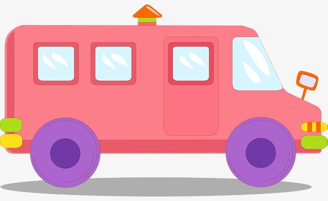 矢量手绘公共汽车
