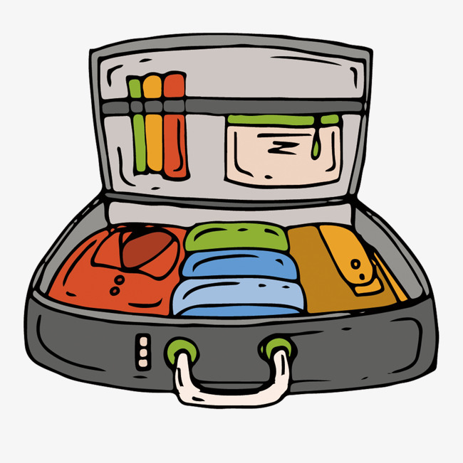 矢量手绘行李箱素材