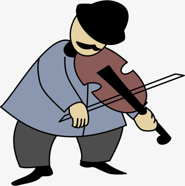 拉小提琴的大叔图片