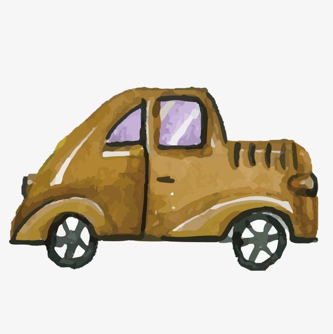 矢量棕色质感儿童绘画汽车素材图片免费下载 高清装饰图案psd 千库网 图片编号7070918图片