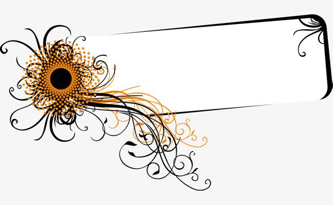 手绘花卉矢量边框