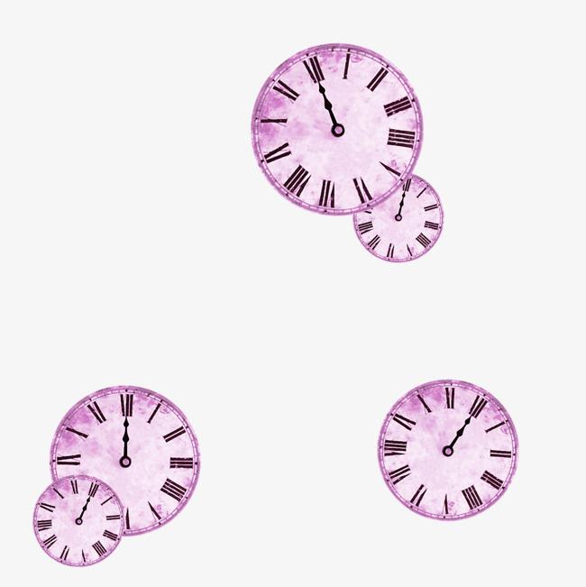 紫色时钟装饰