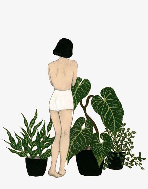 图片 > 【png】 卡通女生背影  分类:手绘动漫 类目:其他 格式:png