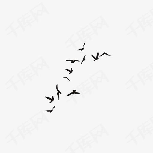 手绘大雁素材图片免费下载 高清装饰图案png 千库网 图片编号7097677