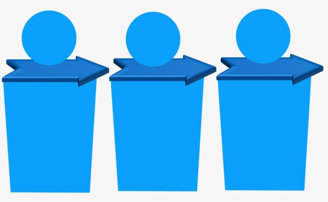 创意垃圾桶流程图图片