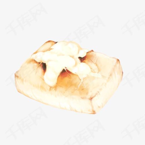 油炸豆腐手绘画素材图片豆腐油炸手绘美食小吃